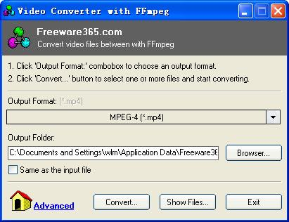 Windows 7 Video Converter with FFmpeg 1.1 full